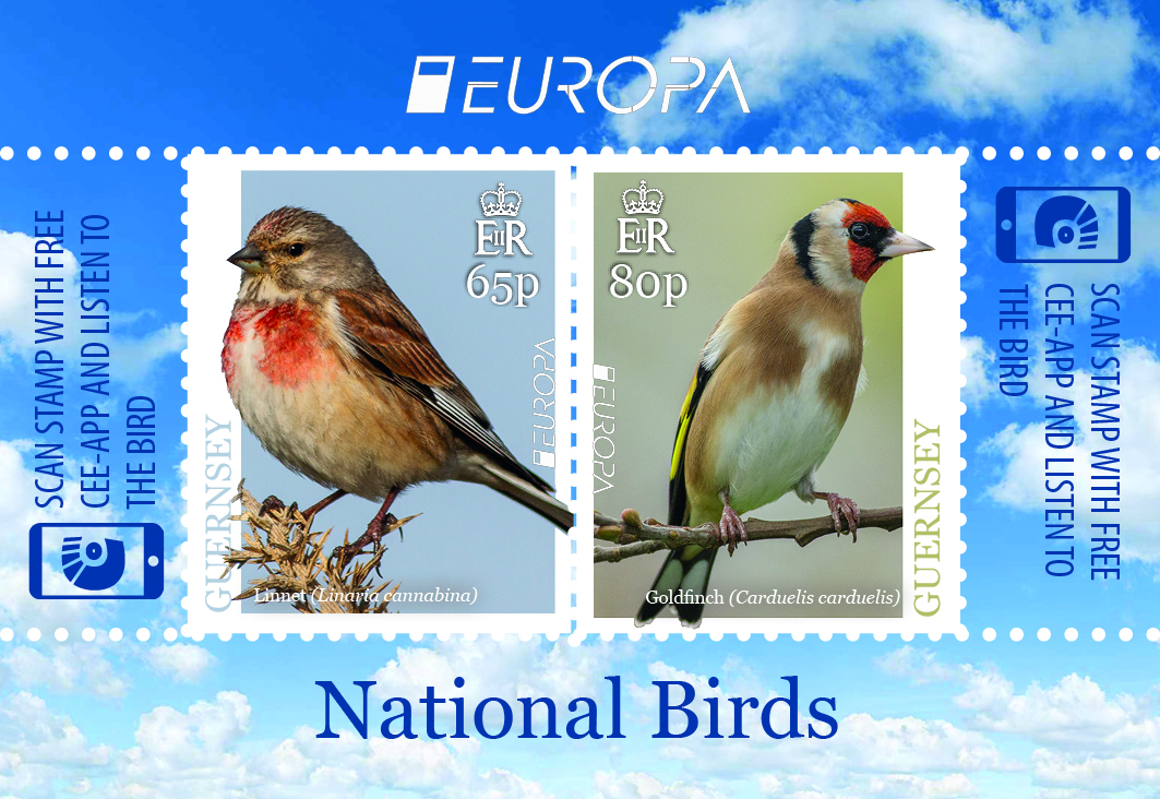 Guernsey - National Birds: EUROPA 2019 (April 1, 2019) self-adhesive sheet of 2