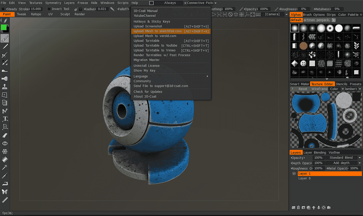 Working with 3D-Coat 4.8.32 full license