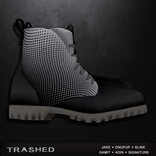 Trashed – vertigo shoe. Menstuff hunt exclusive
