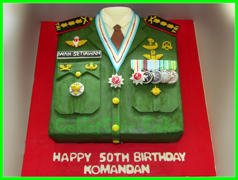 Cake Baju Tentara - KOMANDAN 30 cm