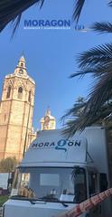 Servicio de Mudanza con Plataforma realizada en la Plaza de la Reina de Valencia