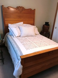 Oak high back full size bed | by thornhill3