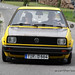 Yellow VW Golf Mk2