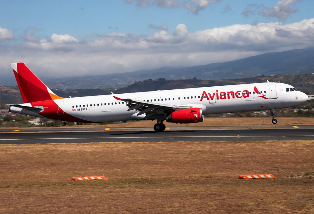 Landing on RWY07 inbound from San Salvador SAL. Delivered 02/2006 to TACA.