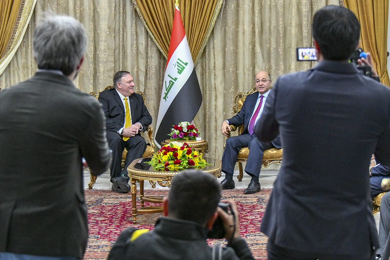 Secretary Pompeo Meets Iraqi President Barham Salih