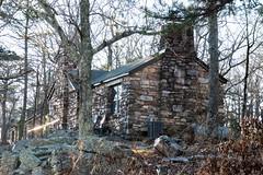 Rustic cabin at FDR Park in Georgia