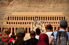 Chegada ao Templo de Hatshepsut