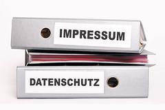Aktenordner Impressum Datenschutz