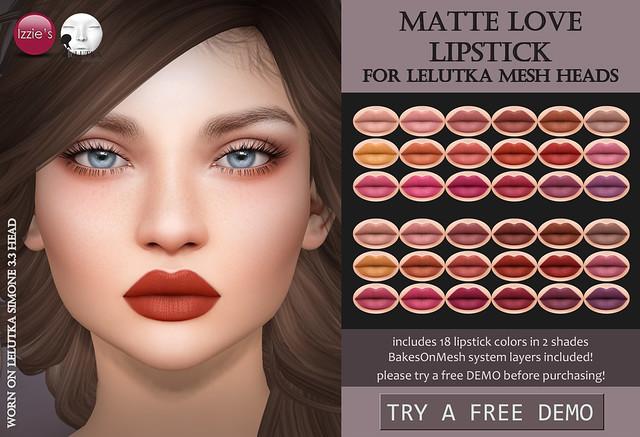 LeLutka Matte Love Lipstick (TLC)