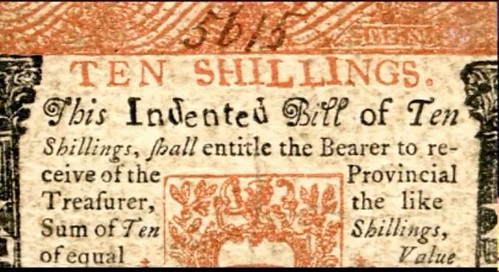 Banknote Typography study Colonial note typeface indented