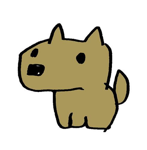 おすわり犬