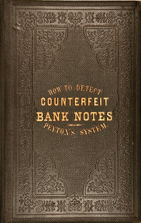 1861 Peyton's How to Detect Counterfeit Bank Notes cover