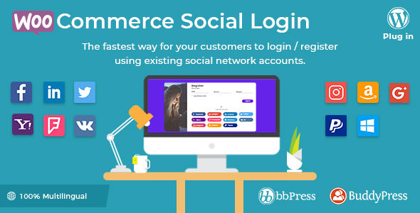 WooCommerce Social Login v1.9.10 - WordPress plugin