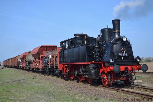 91 134 im Bw. Staßfurt