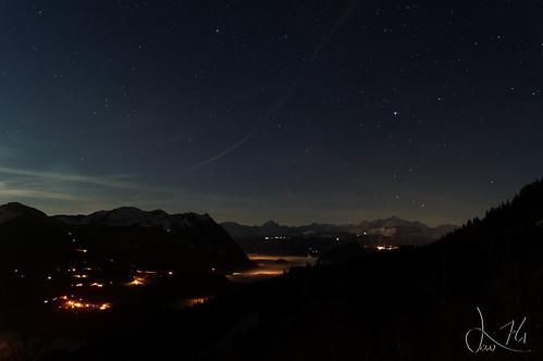 Mont Blanc sous les étoiles