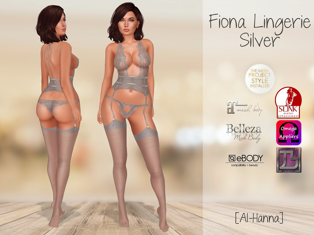 [Al-Hanna] Fiona Lingerie Silver - TeleportHub.com Live!