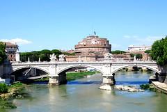 Tevere, Ponte Vittorio Emanuele II, and Castel Sant'Angelo