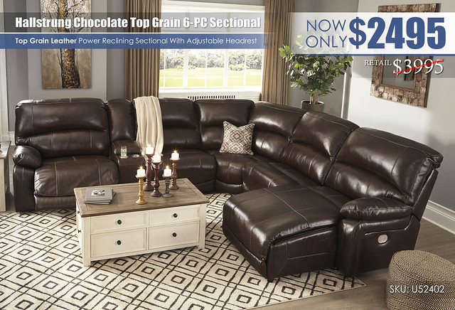 Hallstrung Power Reclining 6PC Sectional_U52402