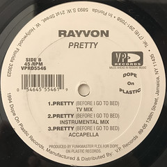 RAYVON:PRETTY(BEFORE I GO TO BED)(LABEL SIDE-B)