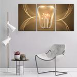 Quadro Canvas Tela Odontologia Dente Canal Vista Frontal