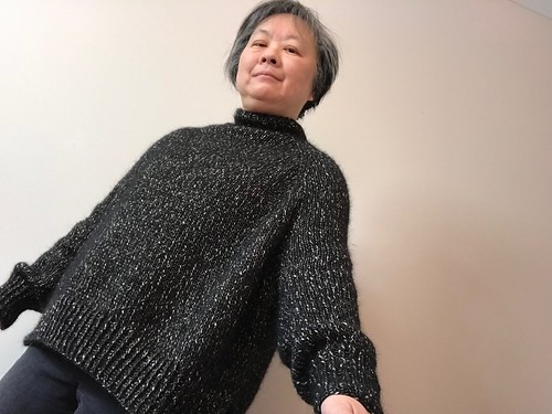 My finished Turtle Dove by Espace Tricot that I knit my mom!