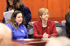 Jill Caron and Rep. Zawistowski testify in support of  HB 5156 'An Act Concerning First Responder Training for Incidents Involving Juveniles with Autism Spectrum Disorder and Nonverbal Learning Disorder'