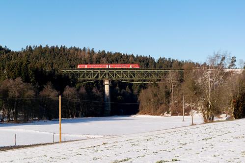 612 als RE 3423 (Nürnberg-Hof) am 16.02.2019 in Neusorg