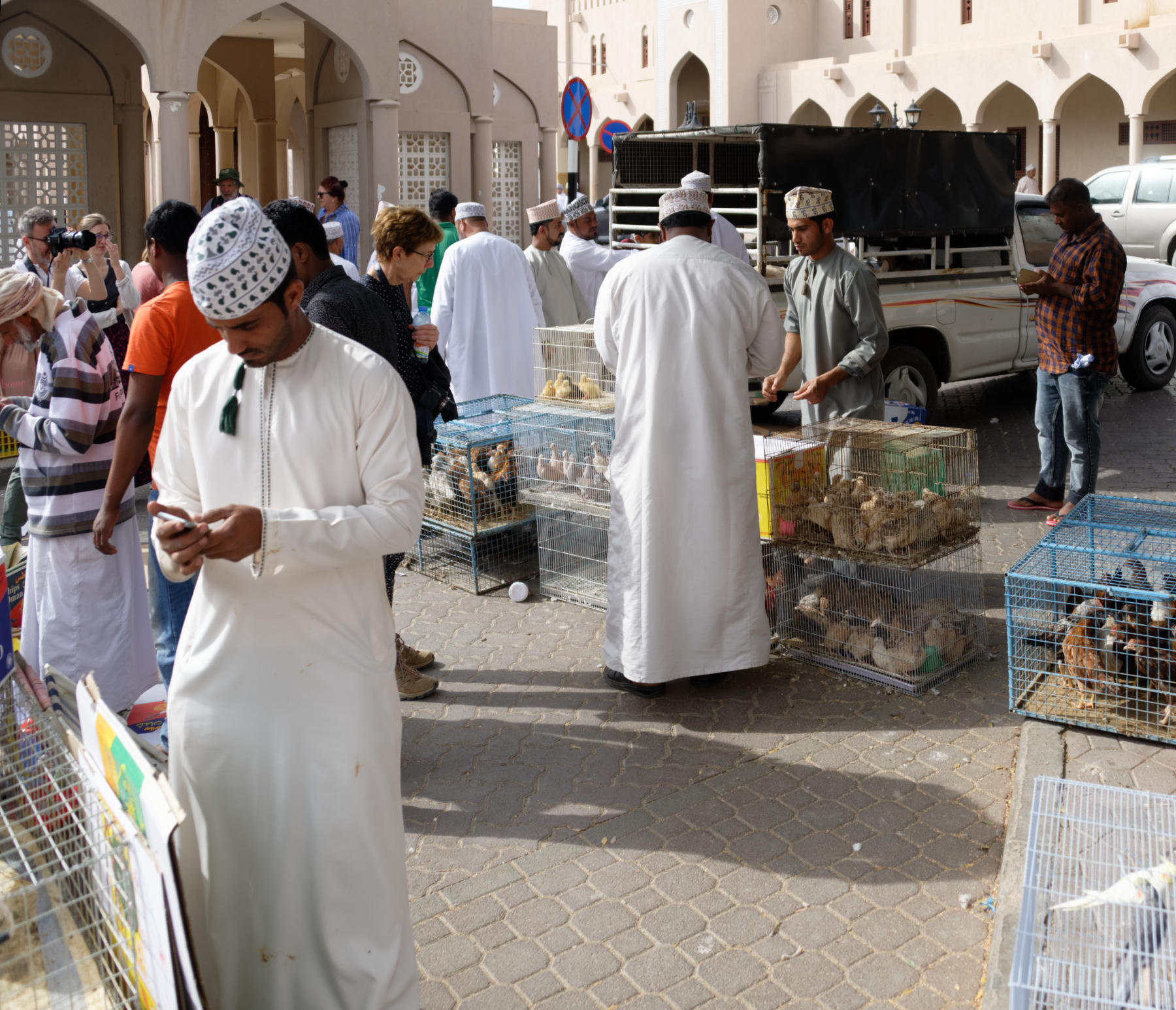 Buying and Selling animals, Nizwa Souq, Oman