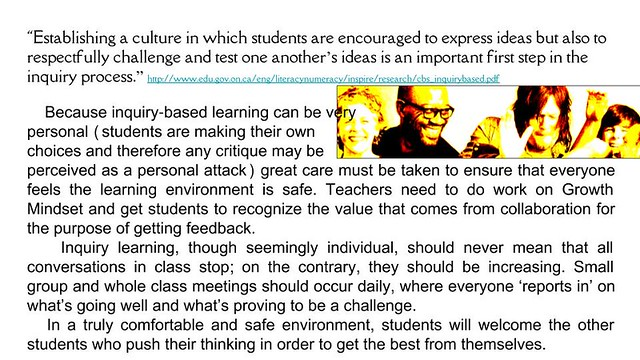 Photo:Educational Postcard: Students are encouraged to express ideas in inquiry-based learning By Ken Whytock