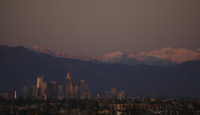 Snow Above LA: Evening