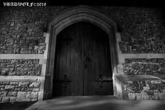 The Chapel door - Streatham Cemetery