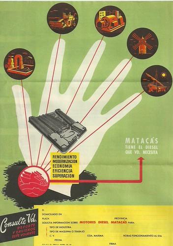 Publicitat Motor dièsel Matacàs anys 1950