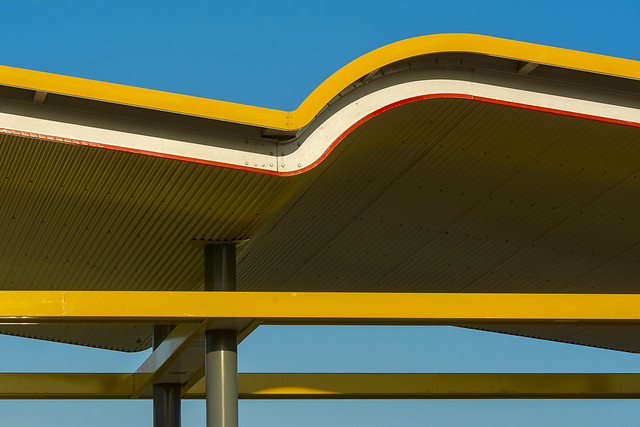 Roof with yellow wave