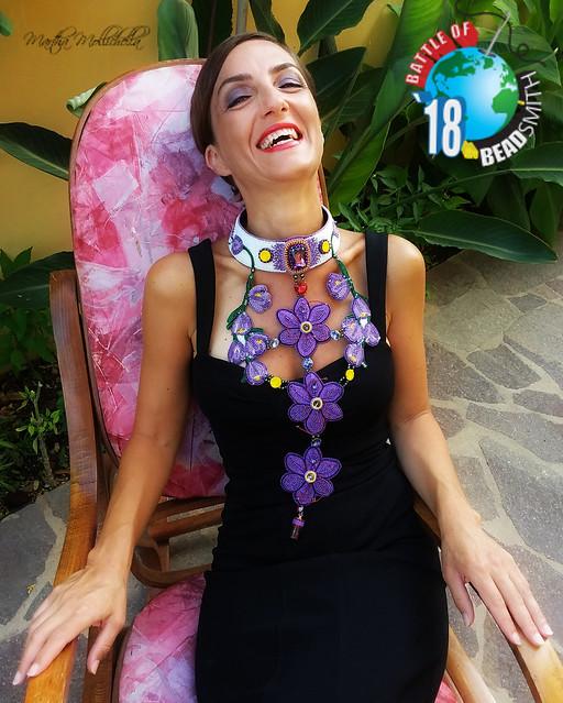 The Battle of the beadsmith 2018 Martha Mollichella from Italy italian saffron zafferano italiano