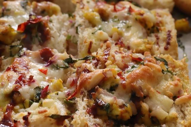 Baked cheesy Pav made by Aradhna