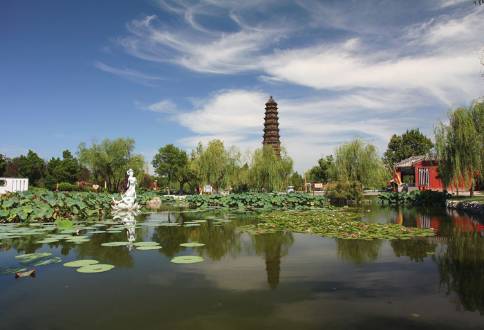 The Iron Pagoda of Youguo Temple in Kaifeng, Henan Province, China.