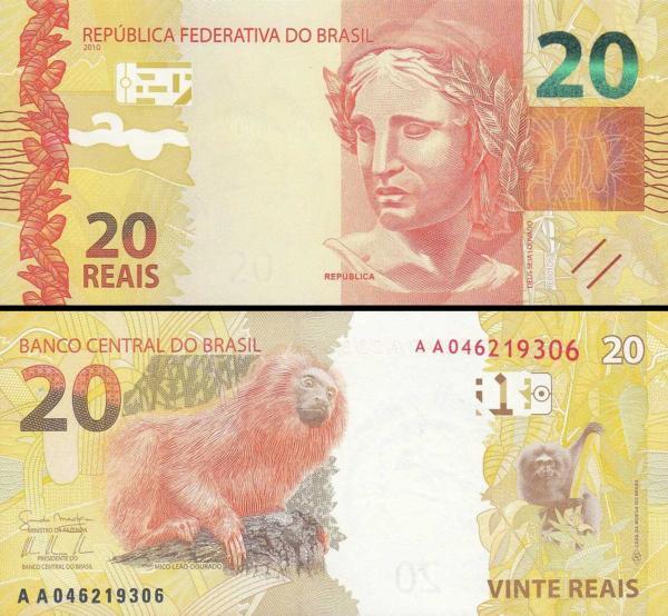 10 reais Brazília 2010, P255