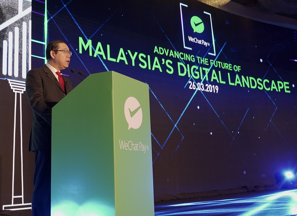 YB Tuan Lim Guan Eng, Minister of Finance, Malaysia, presenting his speech on digital payments and how mobile payment aids in bringing a better Malaysia.