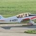 F-HZEV - 1967 SAN built Jodel D.140R Abeille, taxiing for departure on Runway 24 at Friedrichshafen during Aero 2018
