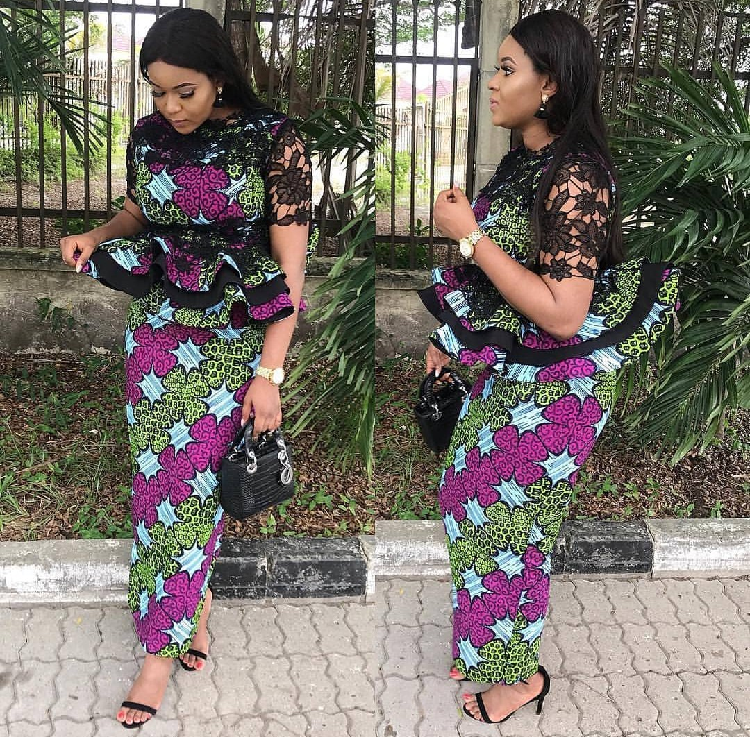 Wedding Ankara's Skirt & Blouse Styles 2019 2