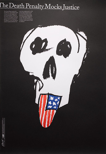 James Victore_The Death Penalty Mocks Justice 1995