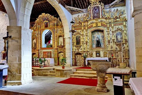 Espagne, l'île de Fuerteventura, intérieur de l'église Nuestra Senora de la Regla à Pajara