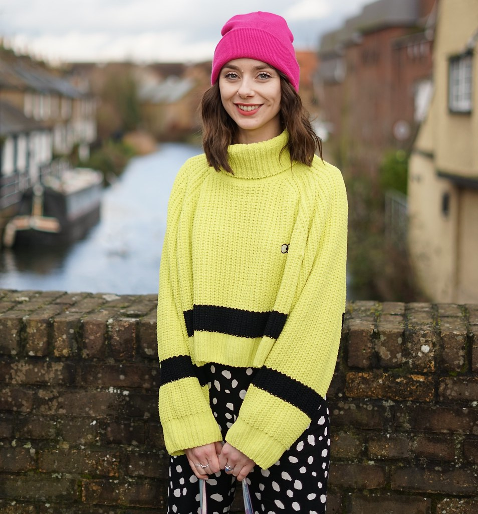 Lazy Oaf Lime Knit & Collusion spotty trousers 1 - Copy