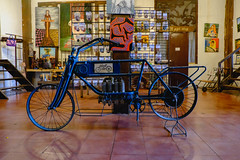 Vintage motorcycle inside Balay Negrense Museum