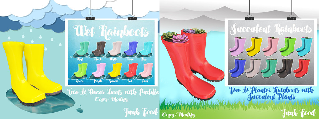 Junk food – Rainboots @ Bloom