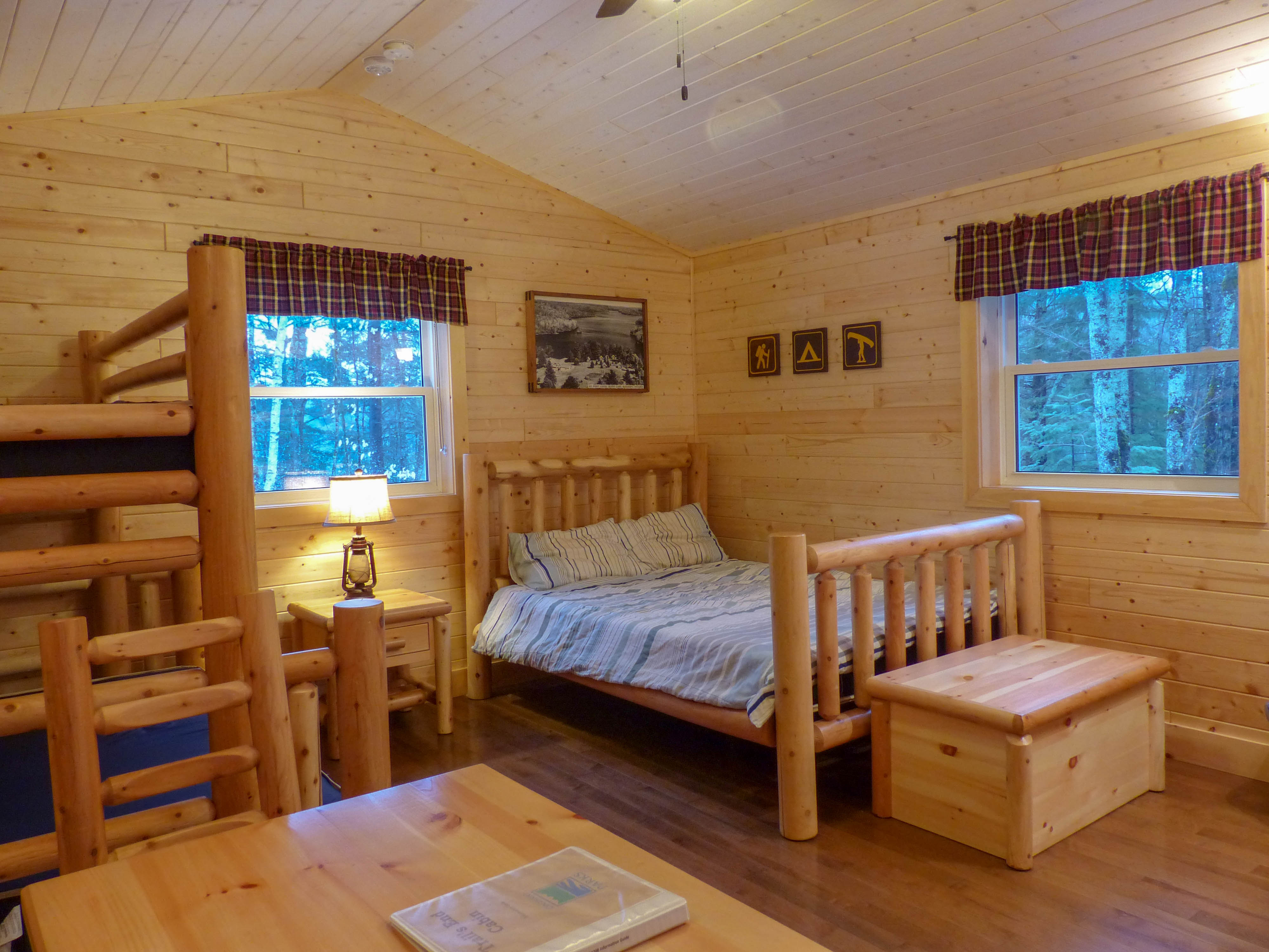 Silent Lake Provincial Park camp cabin interior