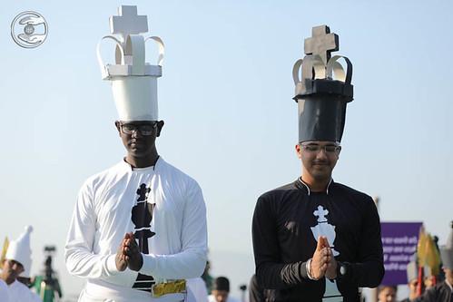 Devotees of Chess Teams seeking blessings