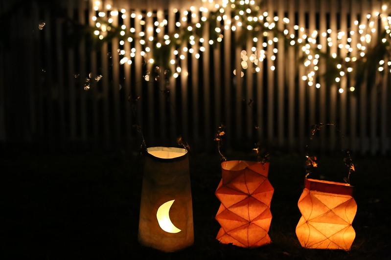 our lanterns at the german christmas lantern walk