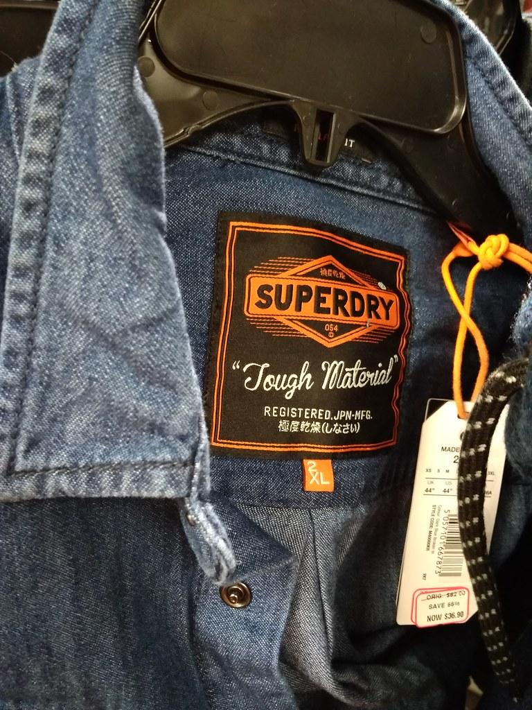SuperDry牛仔衬衫25.83加元