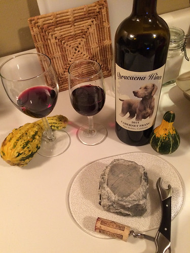 Dracaena Wines Cabernet Franc 2015 and Lazy Lady Farm Duet Cheese